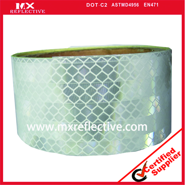 3930 Acrylic white prismatic reflective tape