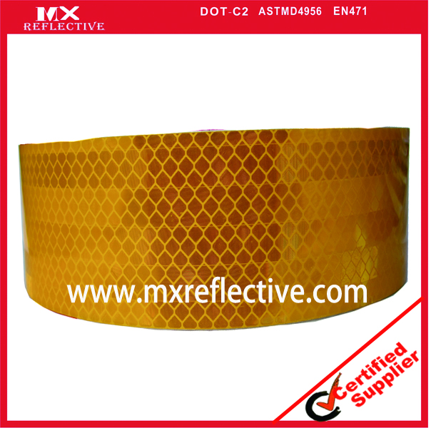 3931 Acrylic yellow prismatic reflective  tape