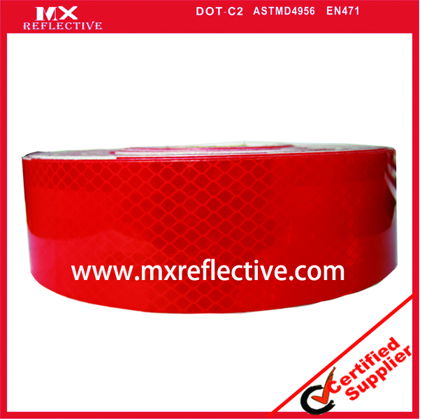 3932  Acrylic Red prismatic reflective tape