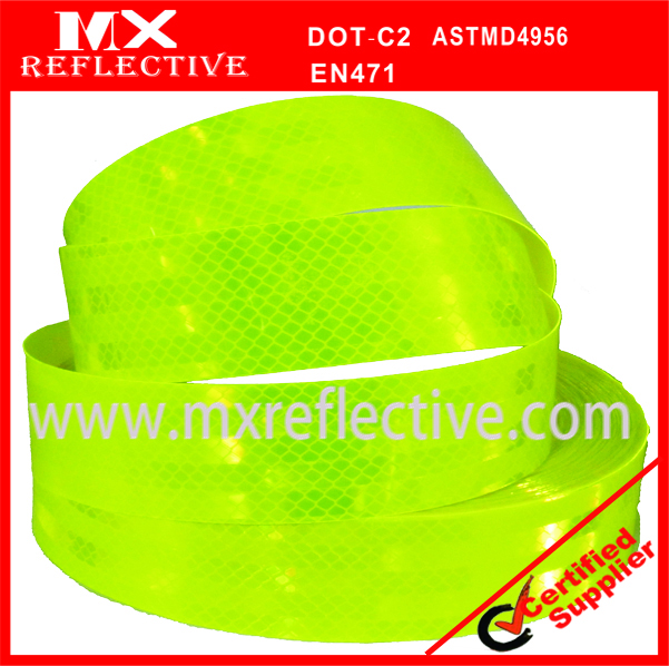 3939  Acrylic yellow green prismatic reflective_tape