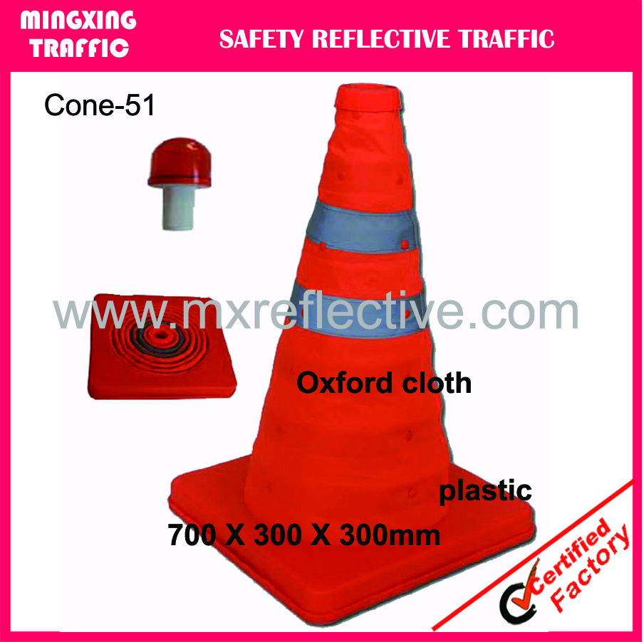 collapsible safety traffic cone