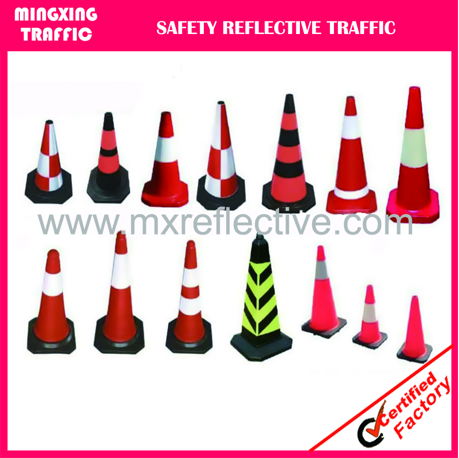 Rubber traffic safety cone