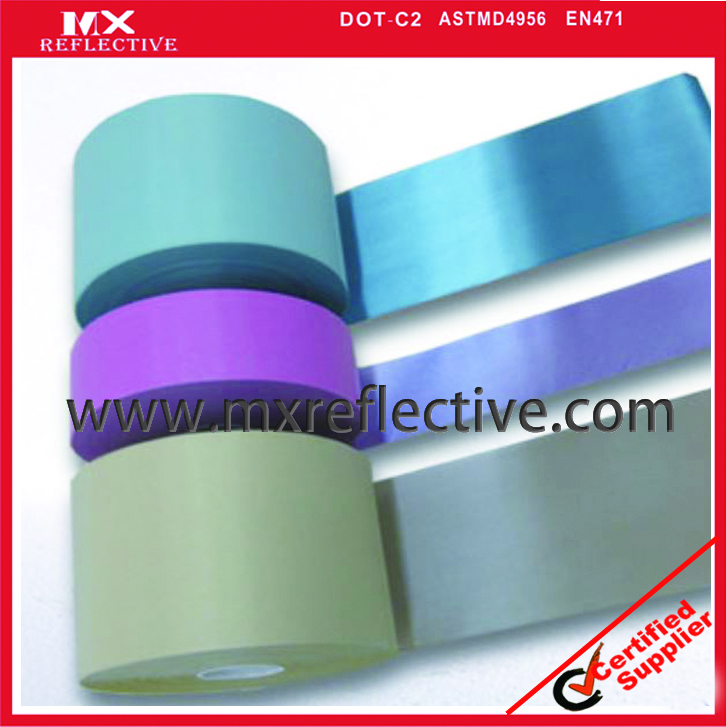 Color reflective tape POLYESTER backing